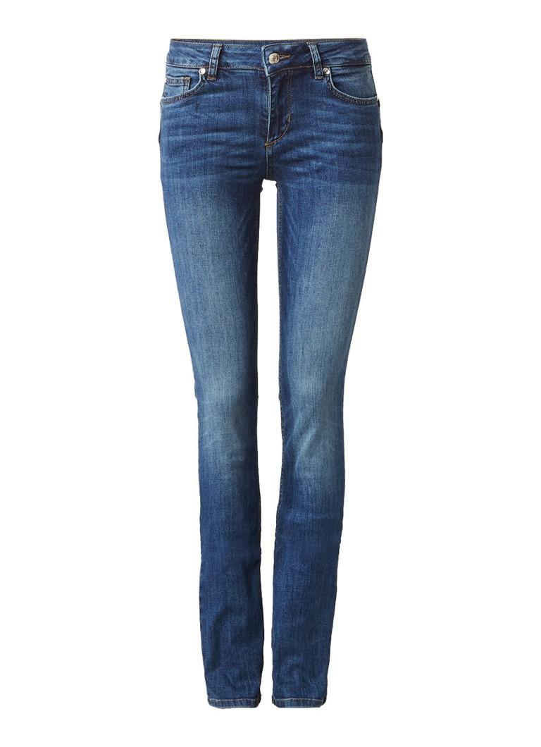 Liu Jo Mid rise skinny jeans met faded wassing