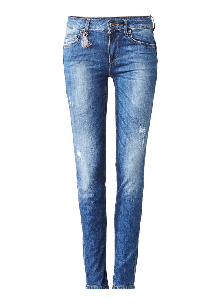 Liu Jo Fabulous mid rise skinny jeans met destroyed details
