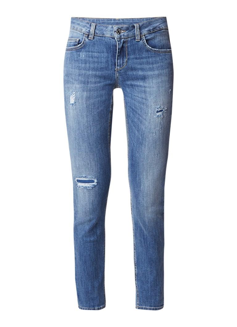 Liu Jo Monroe low rise slim fit jeans met destroyed details