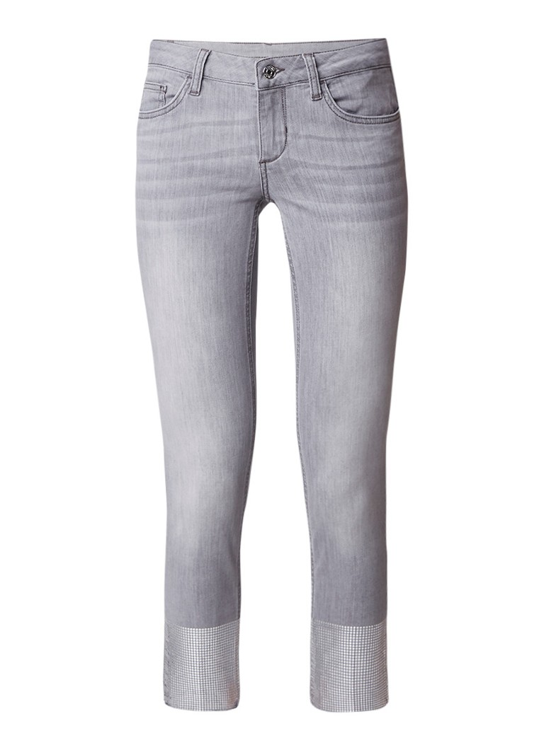 Liu Jo Up Ideal low rise slim fit jeans met metallic details