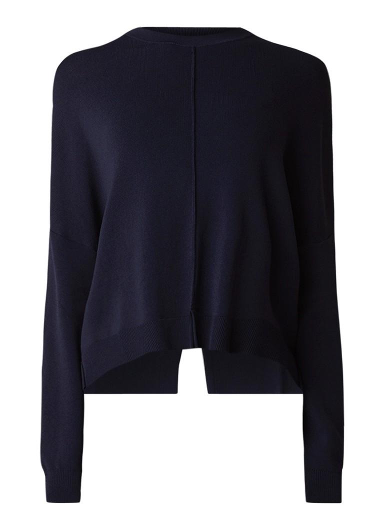 Image of Liu Jo Fijngebreide pullover met asymmetrische boorden