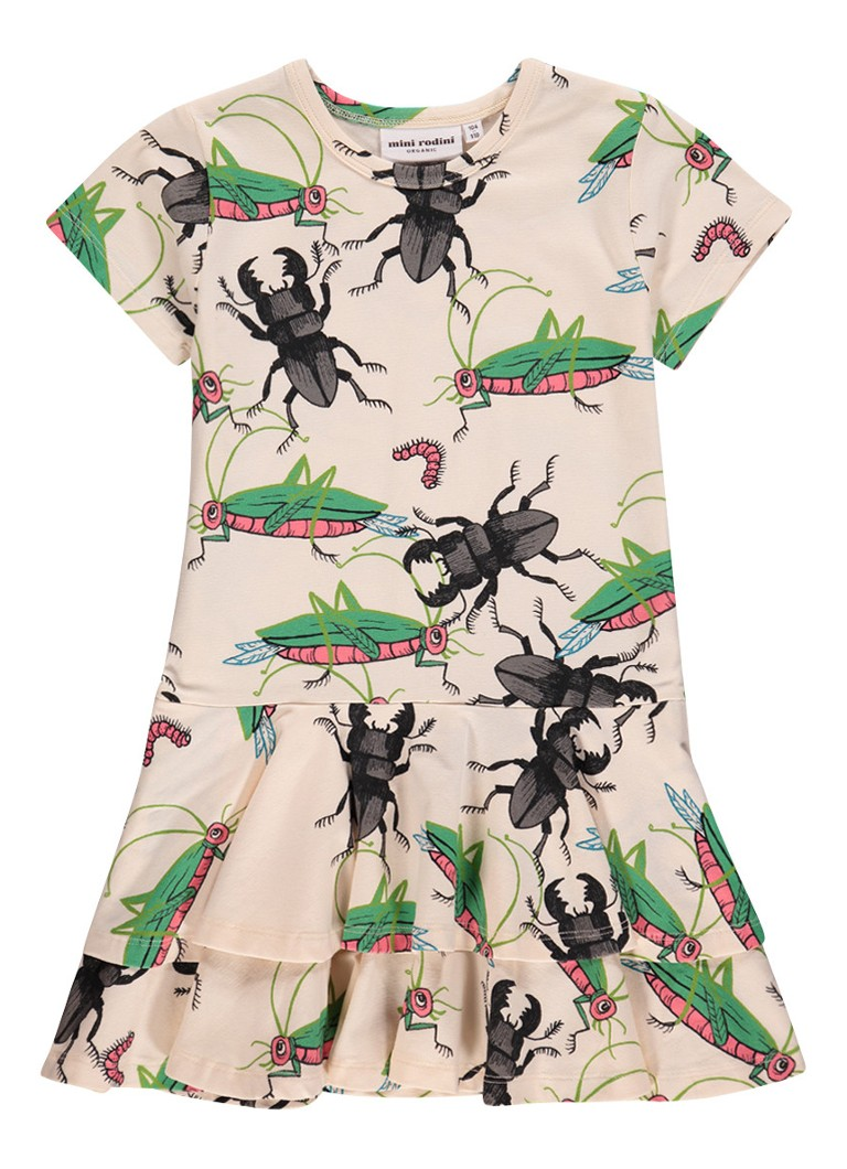 Mini Rodini Insects jurk van