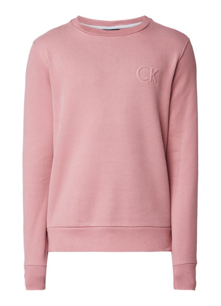 Calvin Klein Kapler sweater met gestanste logoprint