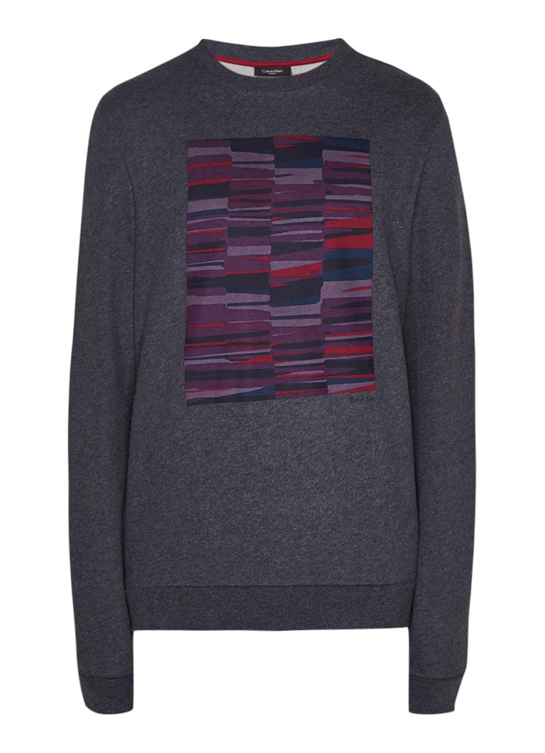 Calvin Klein Kanan French Terry sweater met frontprint