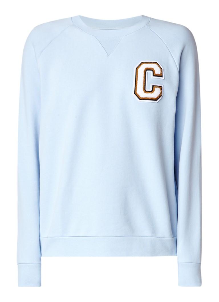 Calvin Klein Kamus sweater met teddy tekstapplicatie