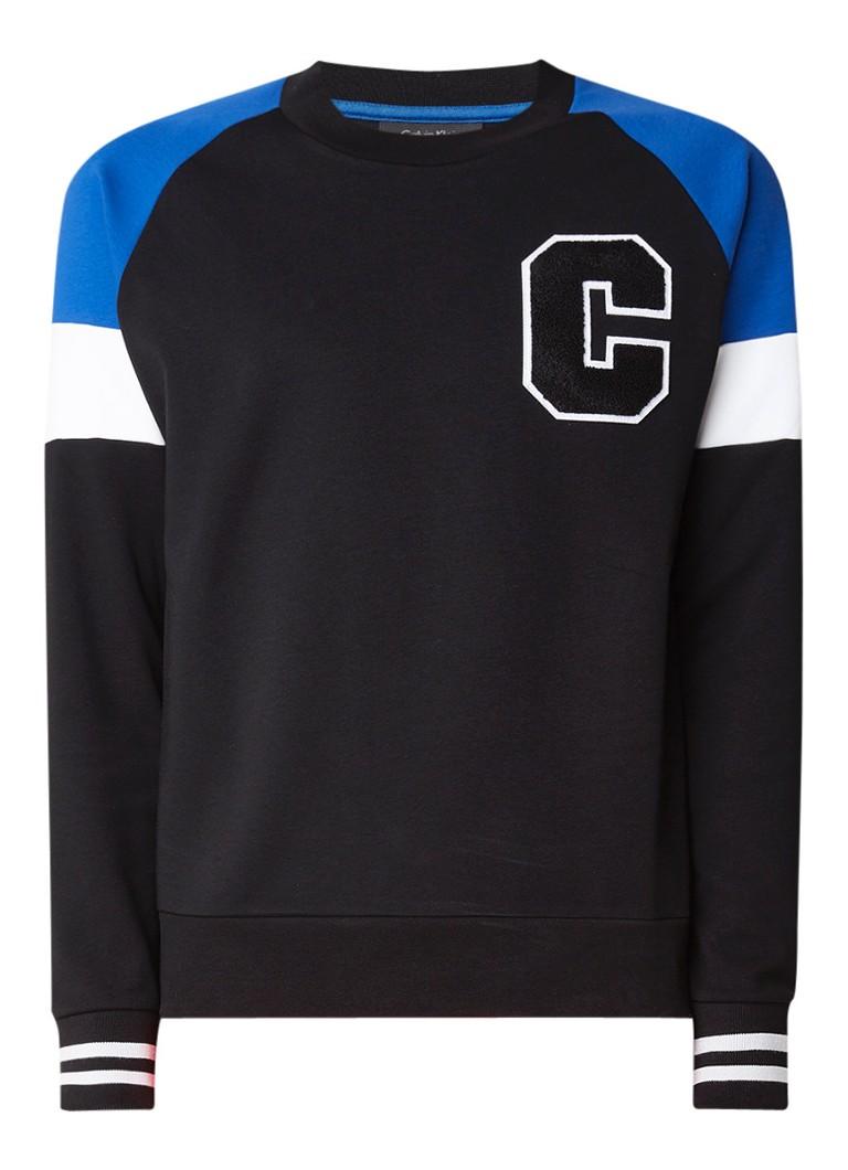 Calvin Klein Kamusa sweater met letterapplicatie