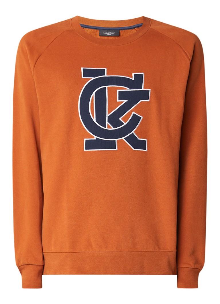Calvin Klein Karem sweater met letterapplicatie