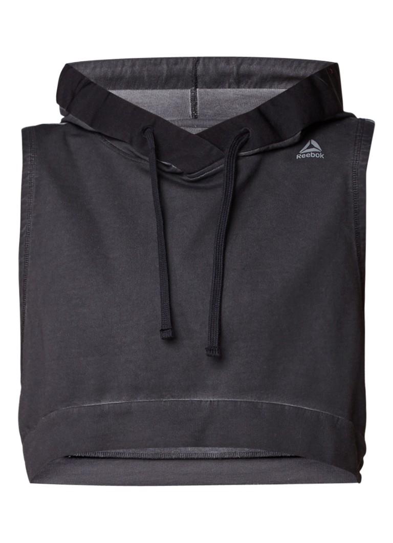 Reebok Combat Glory mouwloze cropped hoodie