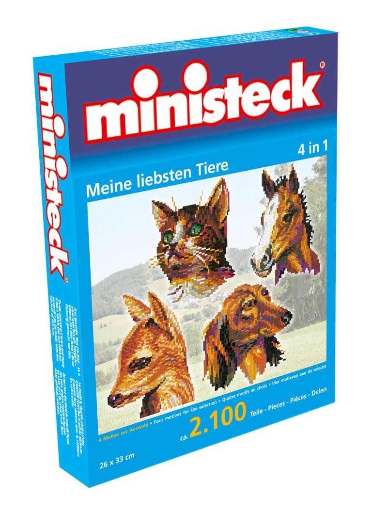 Ministeck Mijn liefste dieren 4 in 1, ca. 2100 stukjes