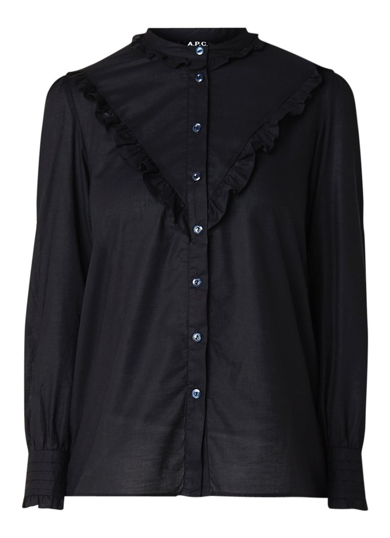 A.P.C. Polly blouse van katoen met ruches