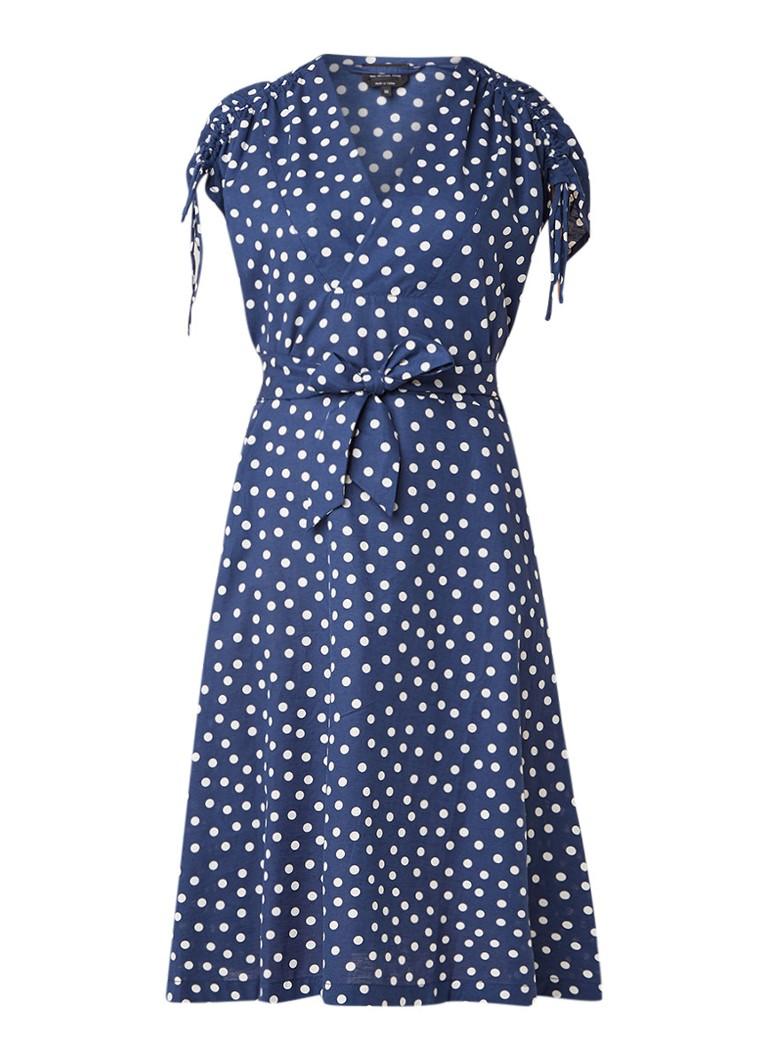 A.P.C. Clare gestipte A-lijn jurk in linnenblend met strikceintuur