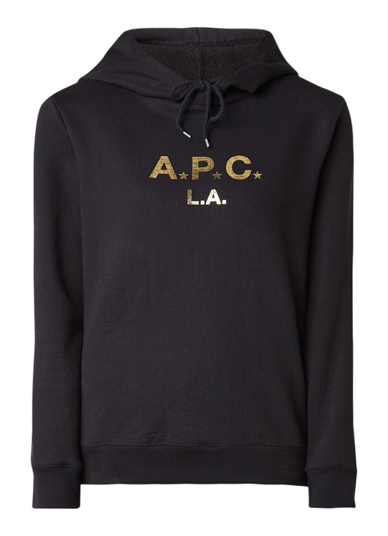 A P C  LA hoodie met logoprint