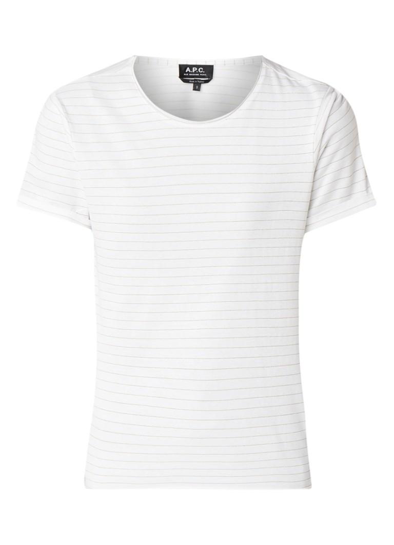 A.P.C. Millbrook T-shirt met streepdessin van lurex