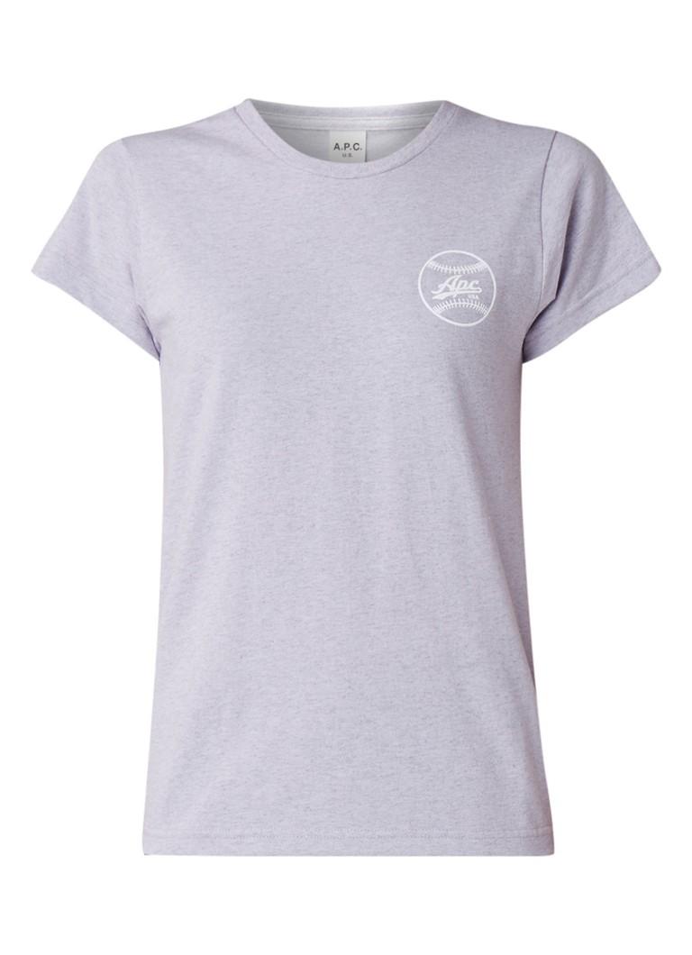 A.P.C. Donna T-shirt met logoprint