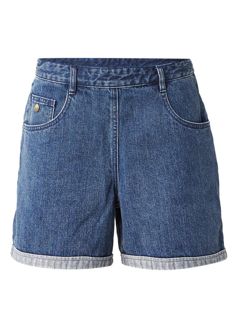 A P C  Cali high waist shorts van denim