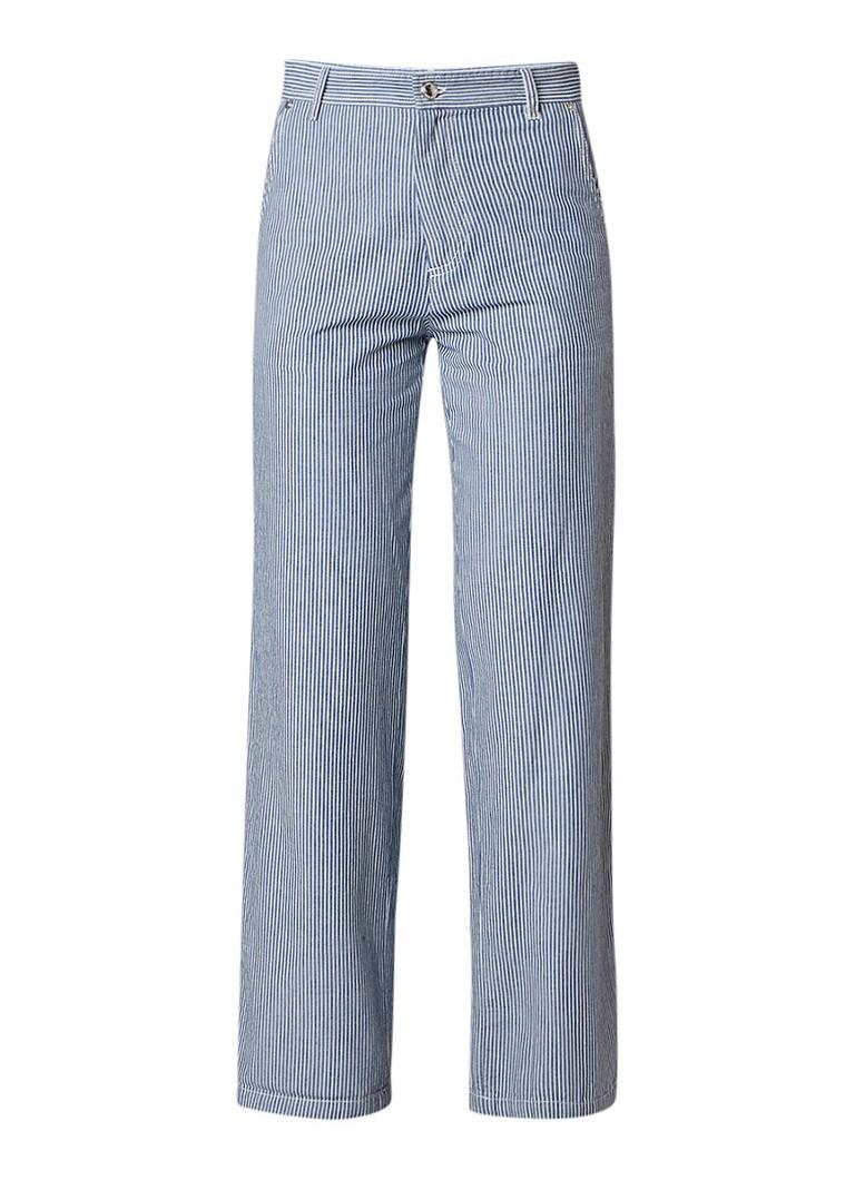 A P C  Coryn wide leg jeans met streepdessin
