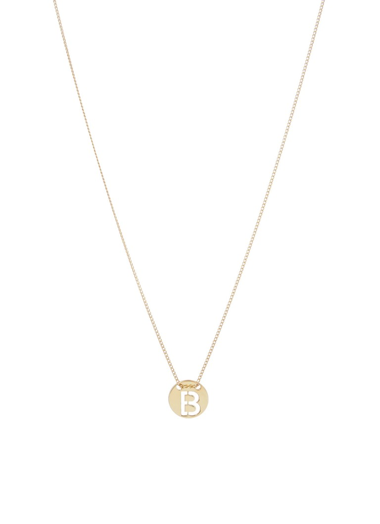 LOTT. gioielli Ketting Initial B van zilver