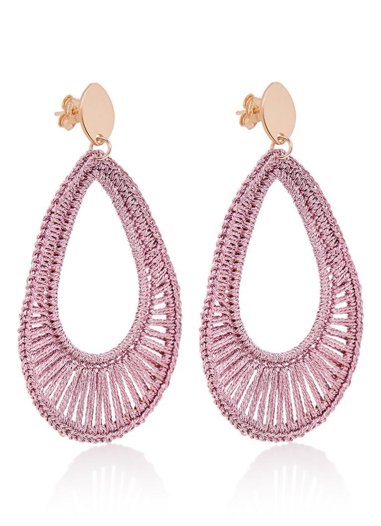 LOTT  gioielli Silk Drop Open oorstekers met 18k roségouden plating