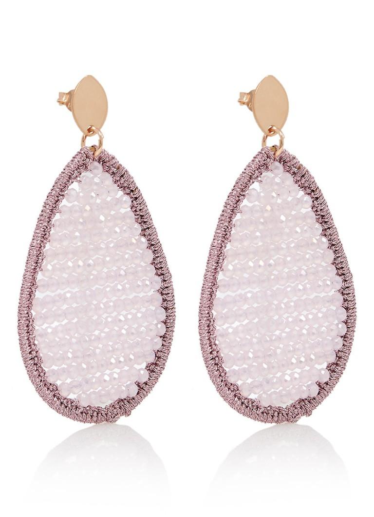 LOTT  gioielli Silk Drop oorhangers met kralen SSB18-033-R-S