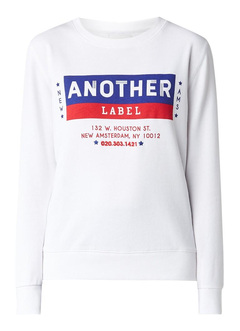 Another-Label Dudley Doo Terry sweater met logoprint