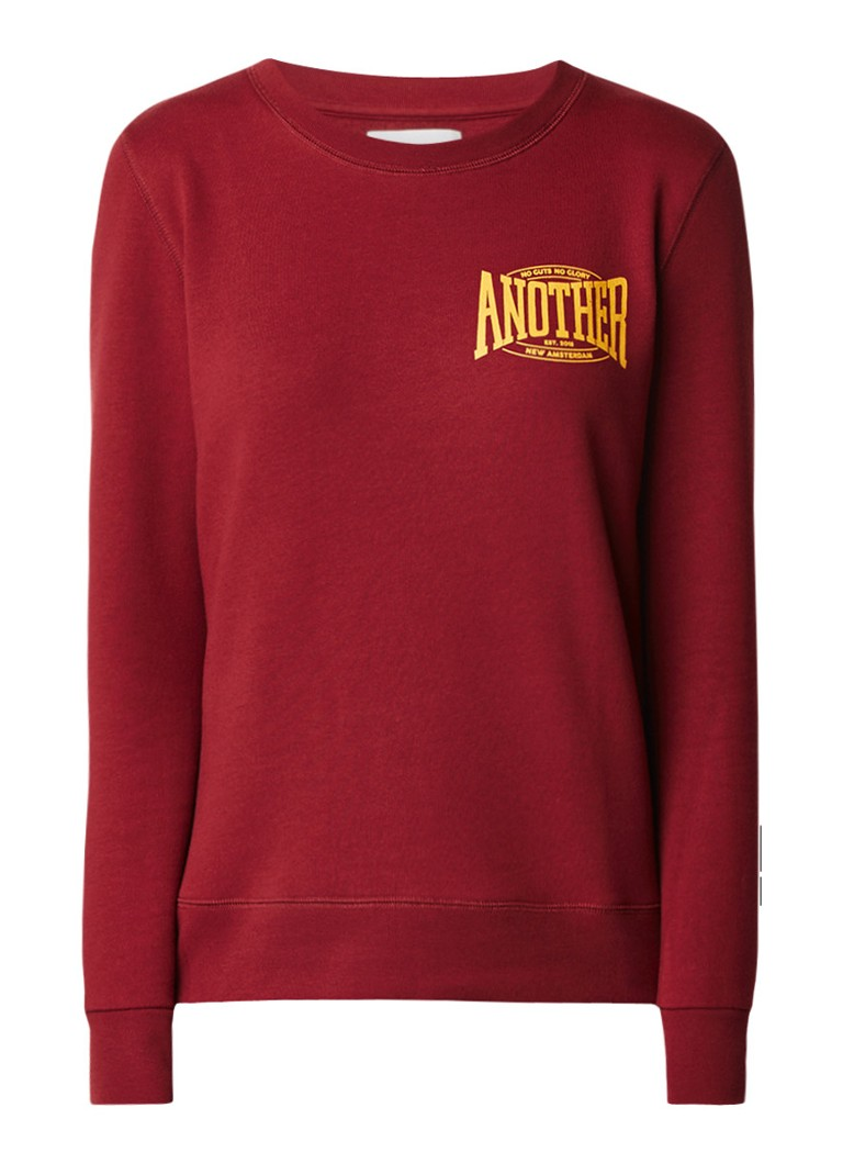 Another-Label Fair Terry sweater met logoprint