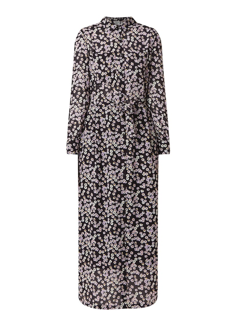 Another-Label Provence maxi blousejurk met bloemendessin lila