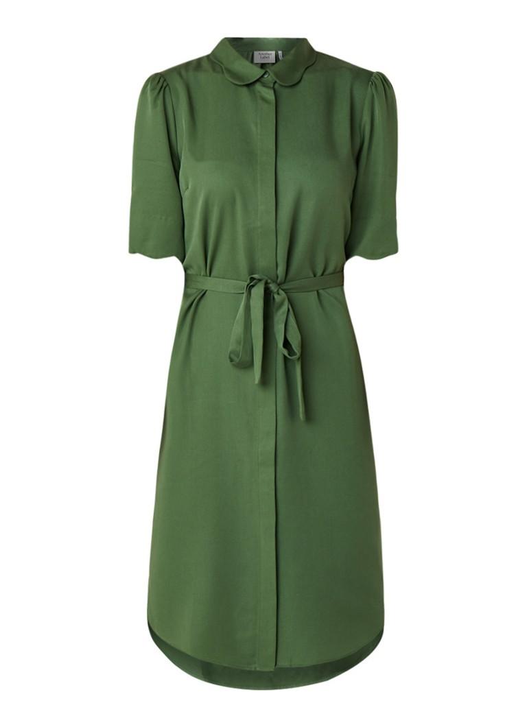 Another-Label Ryawa blousejurk met blinde knoopsluiting groen