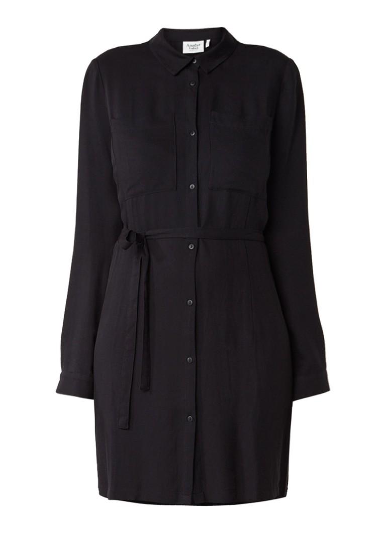 Another-Label Benson blousejurk met borstzakken zwart