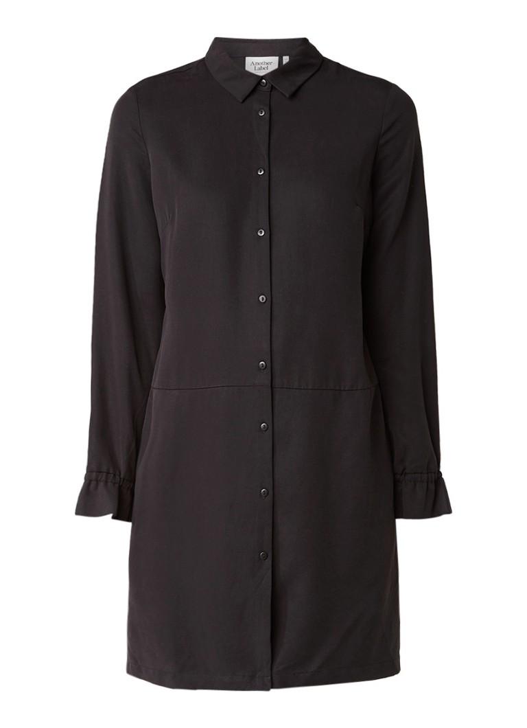 Another-Label Devoe blousejurk met steekzakken zwart
