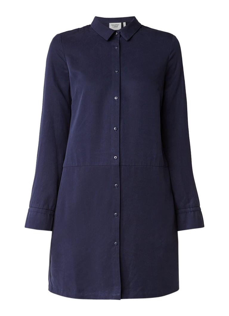 Another-Label Devoe blousejurk met steekzakken donkerblauw