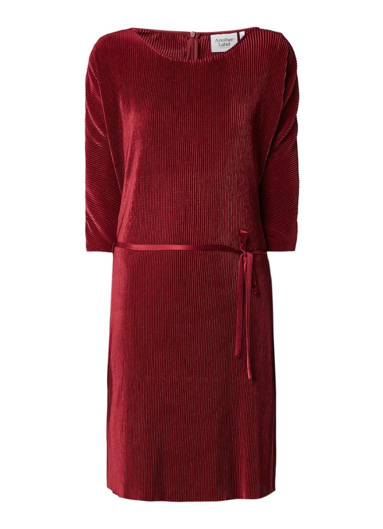 Another-Label Fitch geplooide jurk van satijn rood