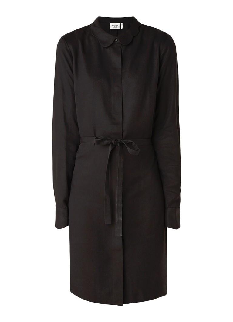 Another-Label Peri blousejurk met blinde knoopsluiting zwart