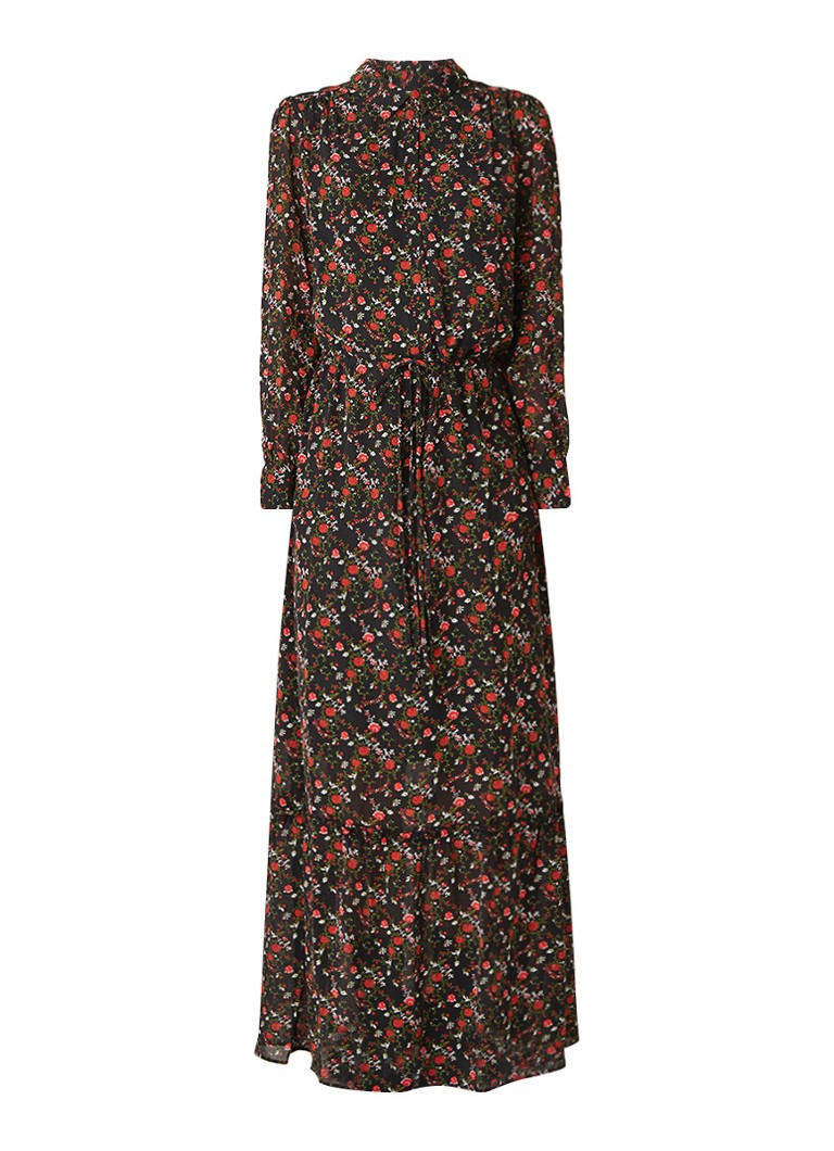 Another-Label Maley maxi-jurk met bloemendessin zwart