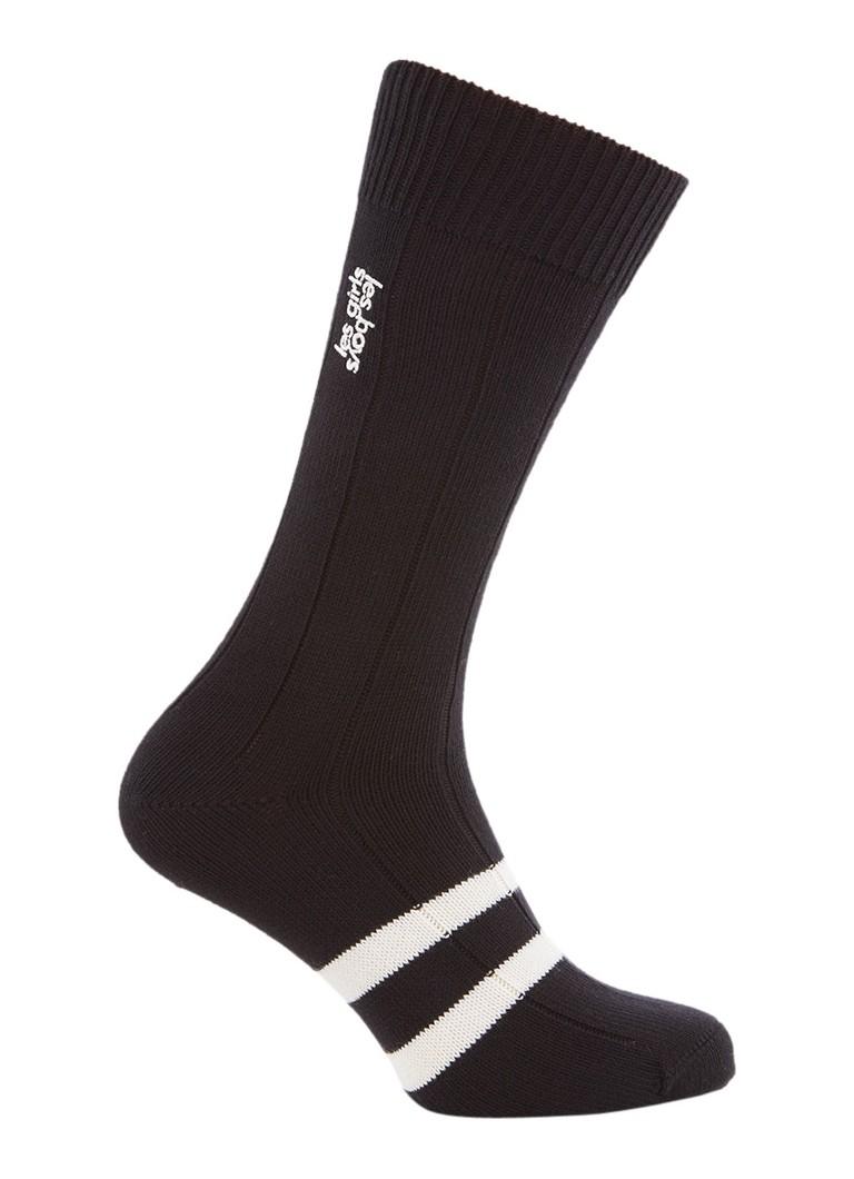 Les Girls Les Boys Classic sokken van katoen black