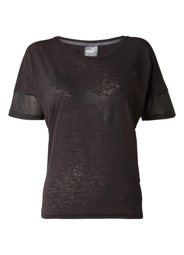 Puma Loose fit trainings T-shirt met logo