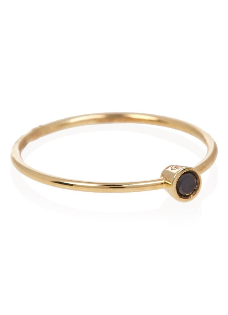 Aynur Abbott Black Diamond ring van 8k goud met diamant