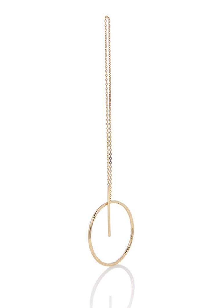 Aynur Abbott Open Circle oorhanger van 8k goud