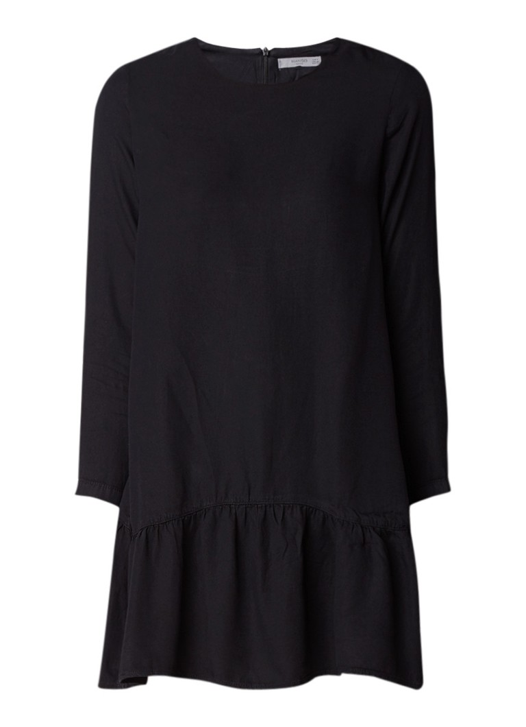 Mango Emma A-lijn mini-jurk met volant zwart