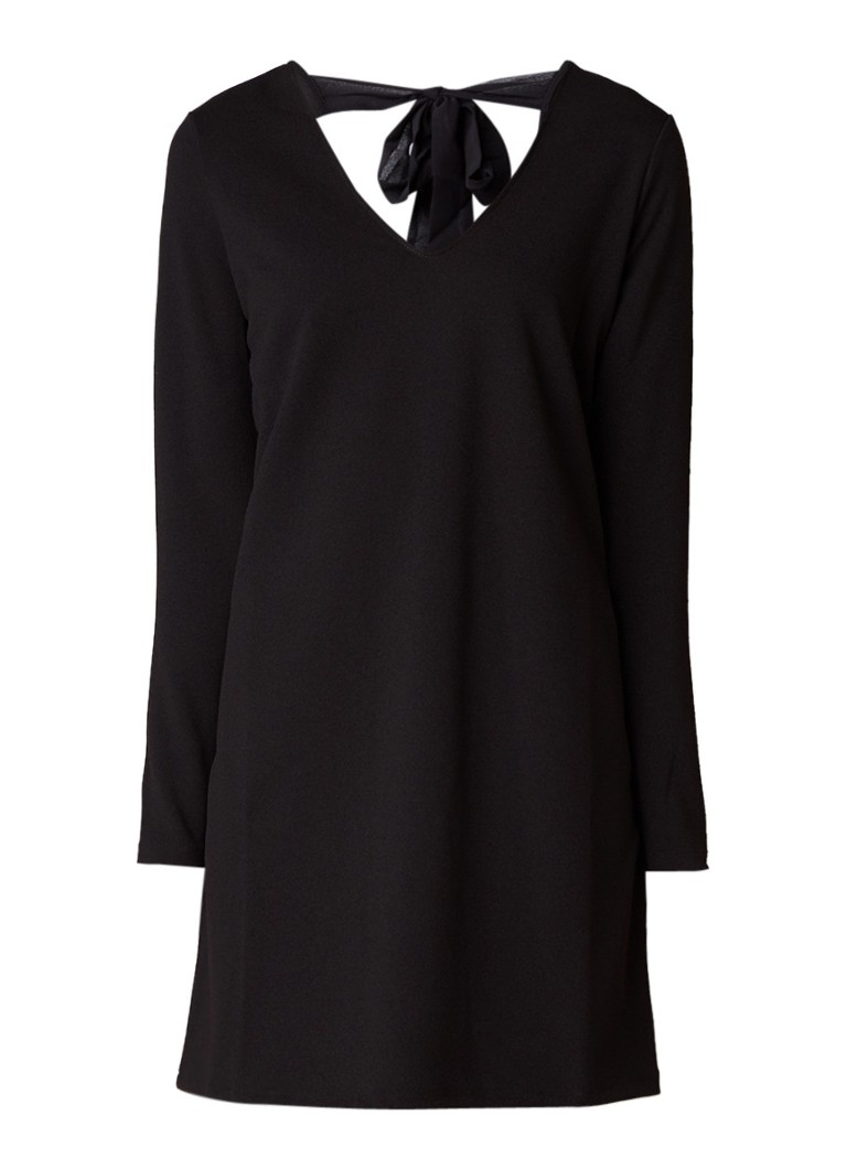 MANGO Lola A-lijn jurk van crêpe met striksluiting