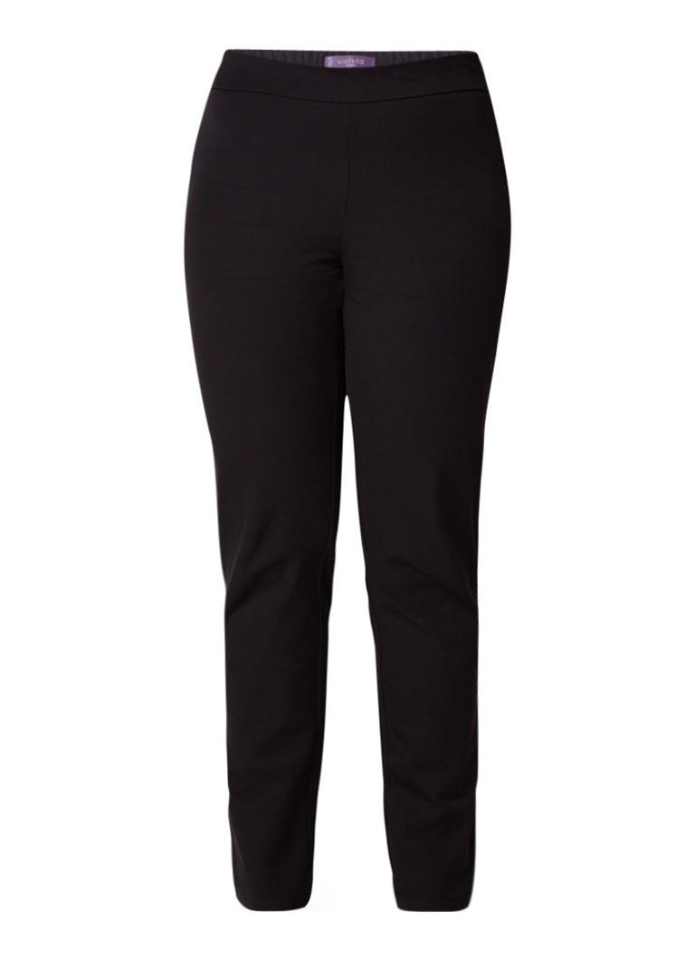 MANGO Elastic pantalon in katoenblend met elastische tailleband