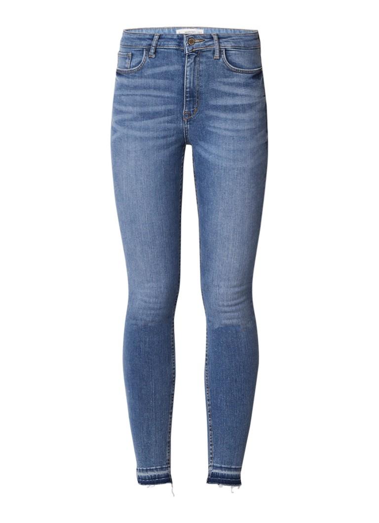 MANGO Soho high rise skinny jeans met gerafelde zoom