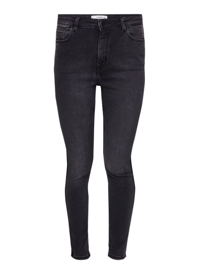 MANGO Soho high rise skinny jeans met faded look