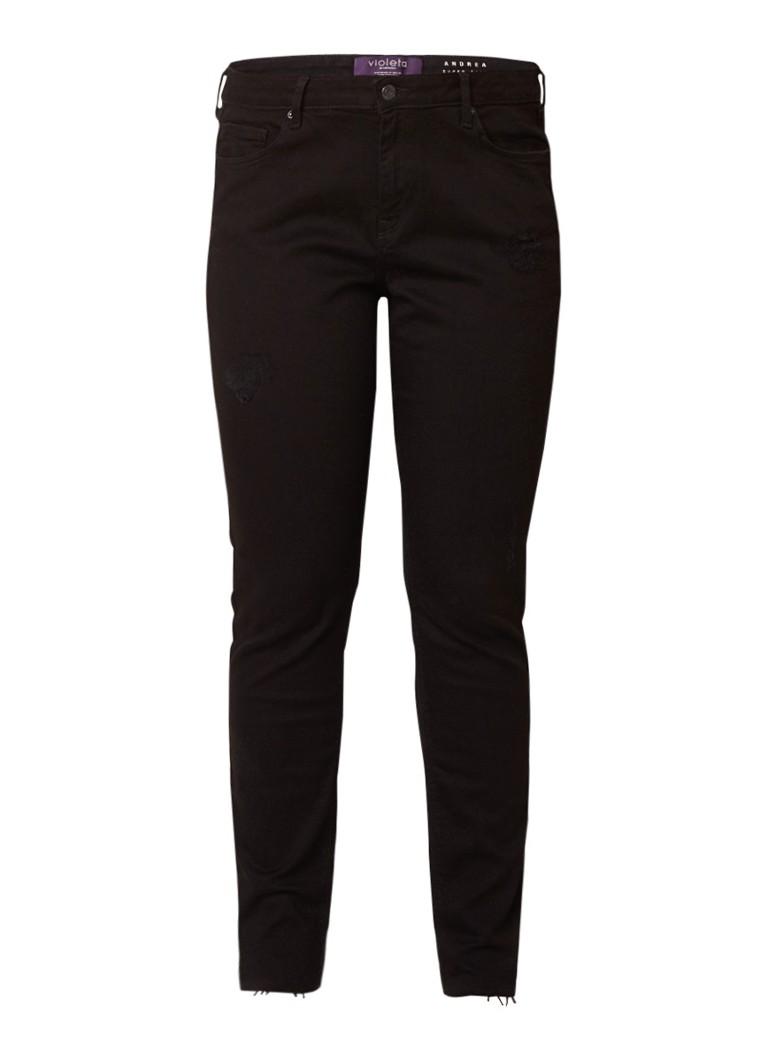 MANGO Andrea low rise slim fit jeans met destroyed details