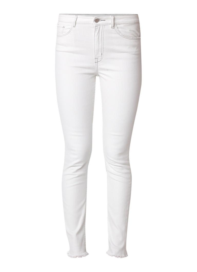 MANGO Soho high rise skinny jeans met gerafelde zom