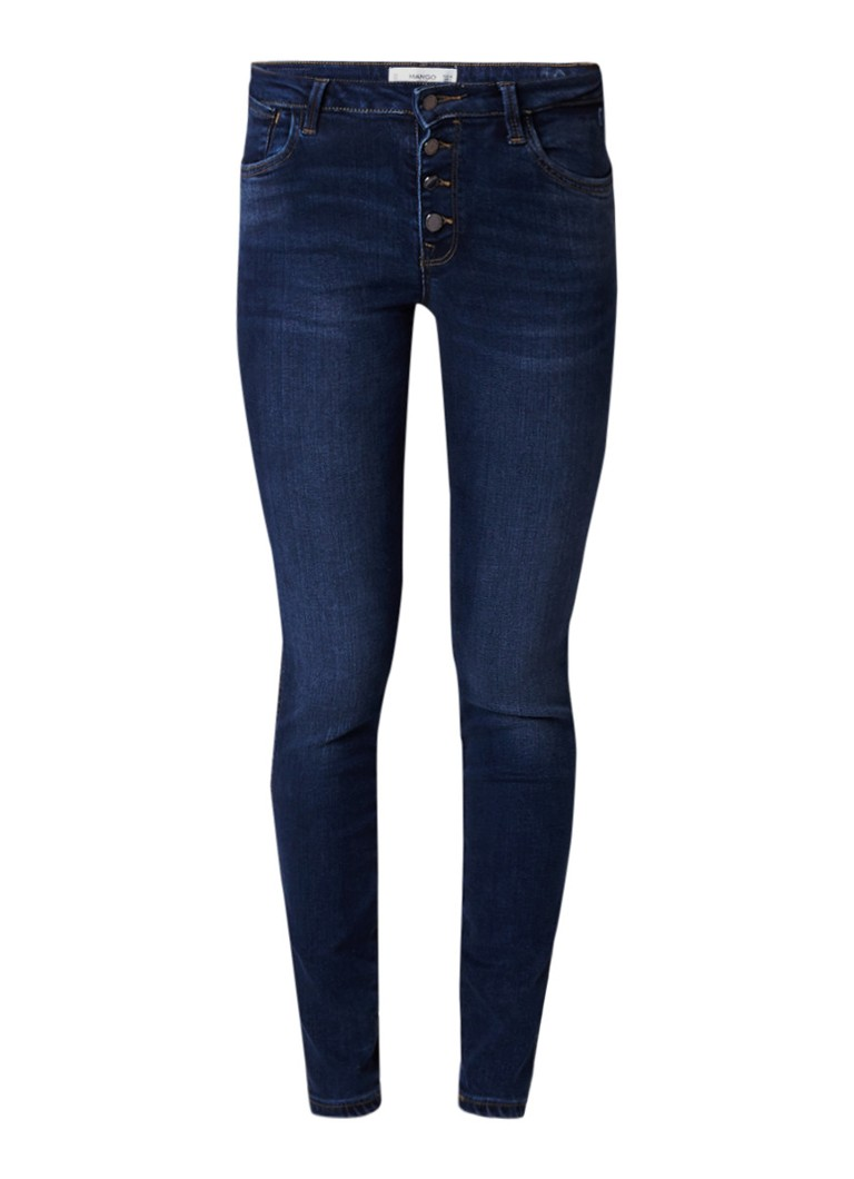 MANGO Uptown mid rise skinny fit jeans met push-up effect