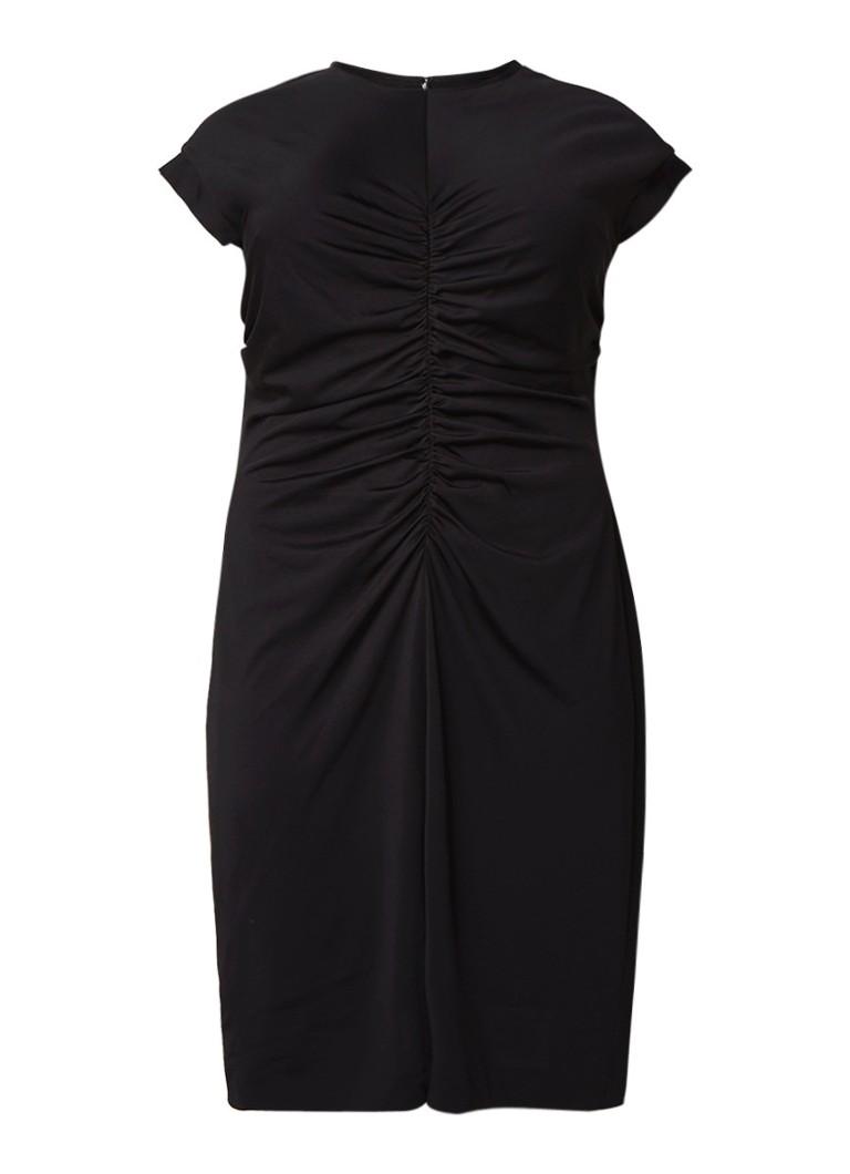 Mango Salsa getailleerde jurk met smockwerk zwart