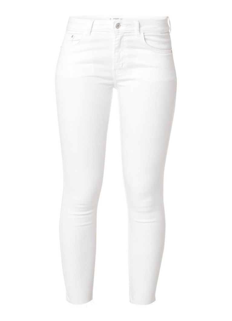 MANGO Isa mid rise cropped skinny fit jeans met stretch