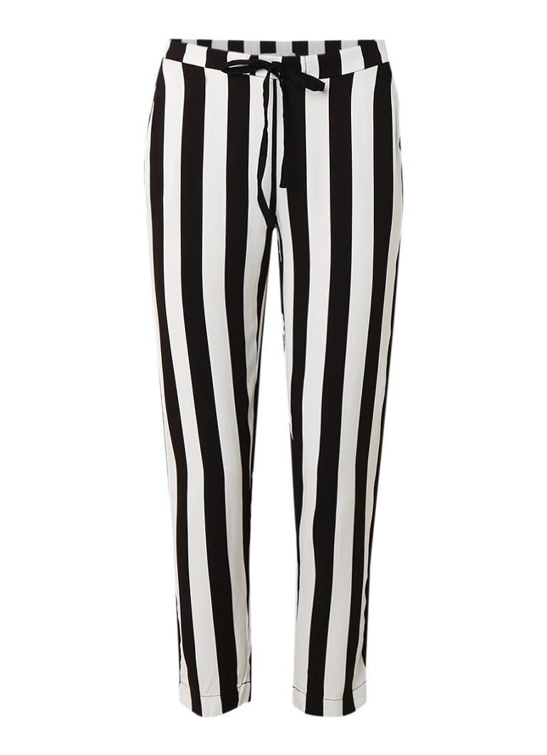 MANGO MANGO High rise loose fit broek met elastische tailleband