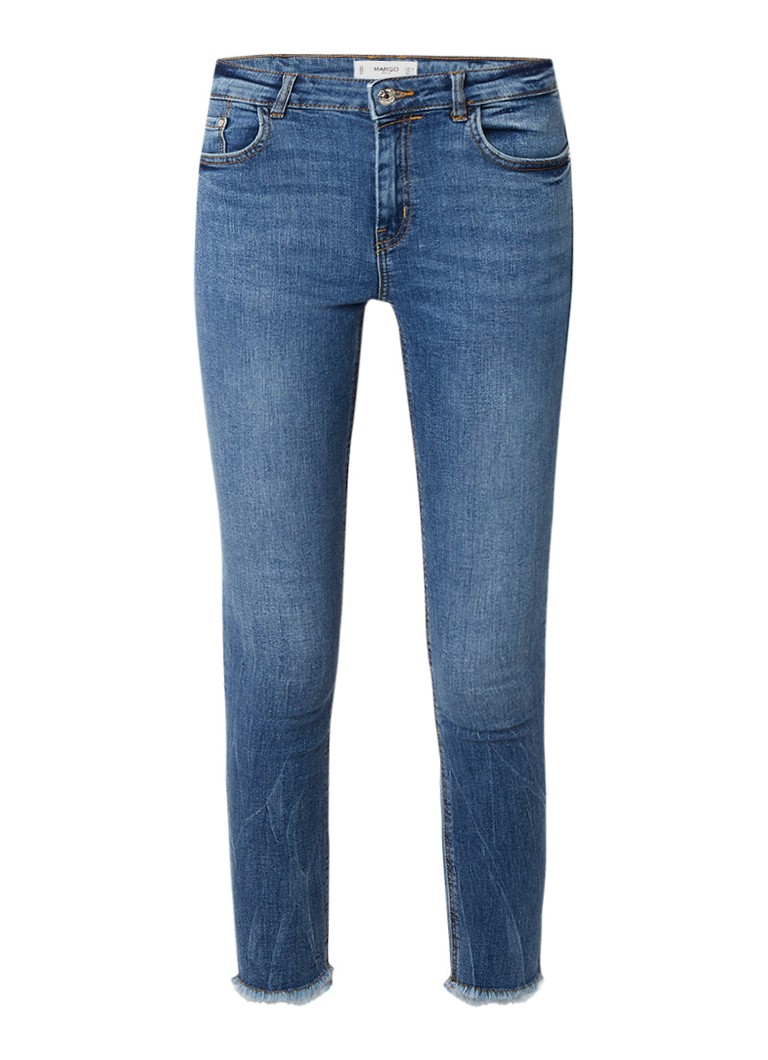MANGO Isa mid rise cropped skinny jeans