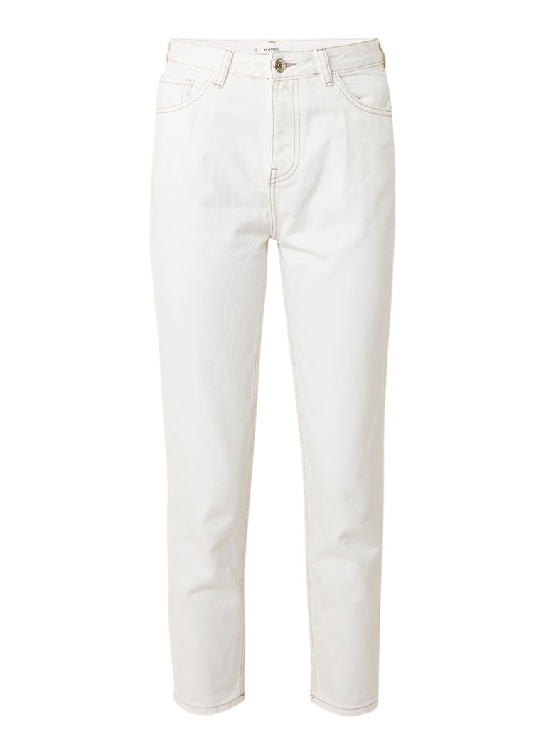 MANGO High rise skinny fit jeans met lichte wassing